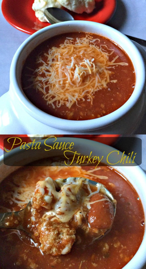 Pasta Sauce Turkey Chili Collage