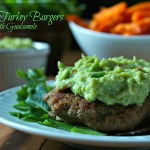 Cajun Turkey Burgers Topped with Guacamole