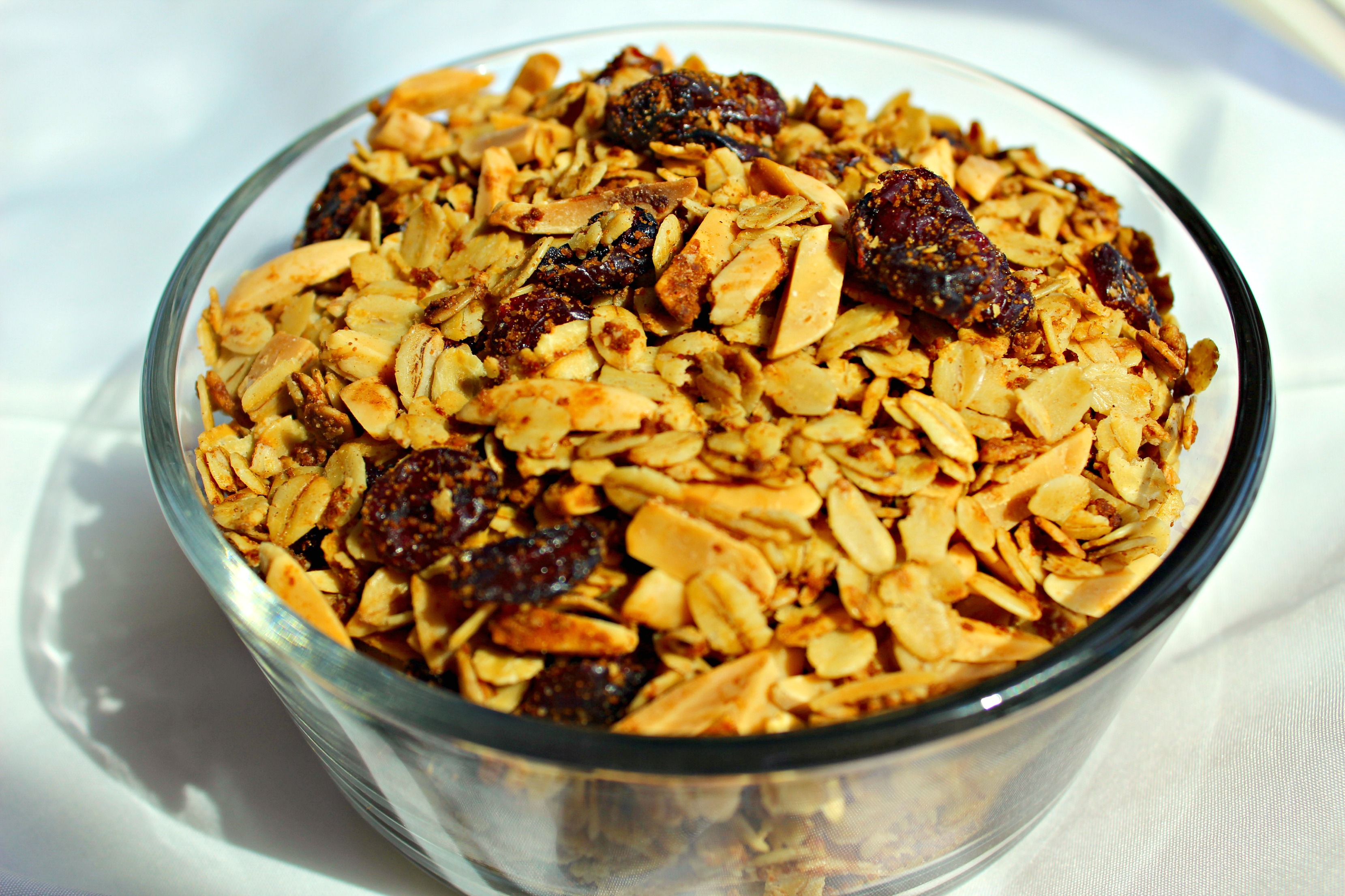 cranberry almond granola 4
