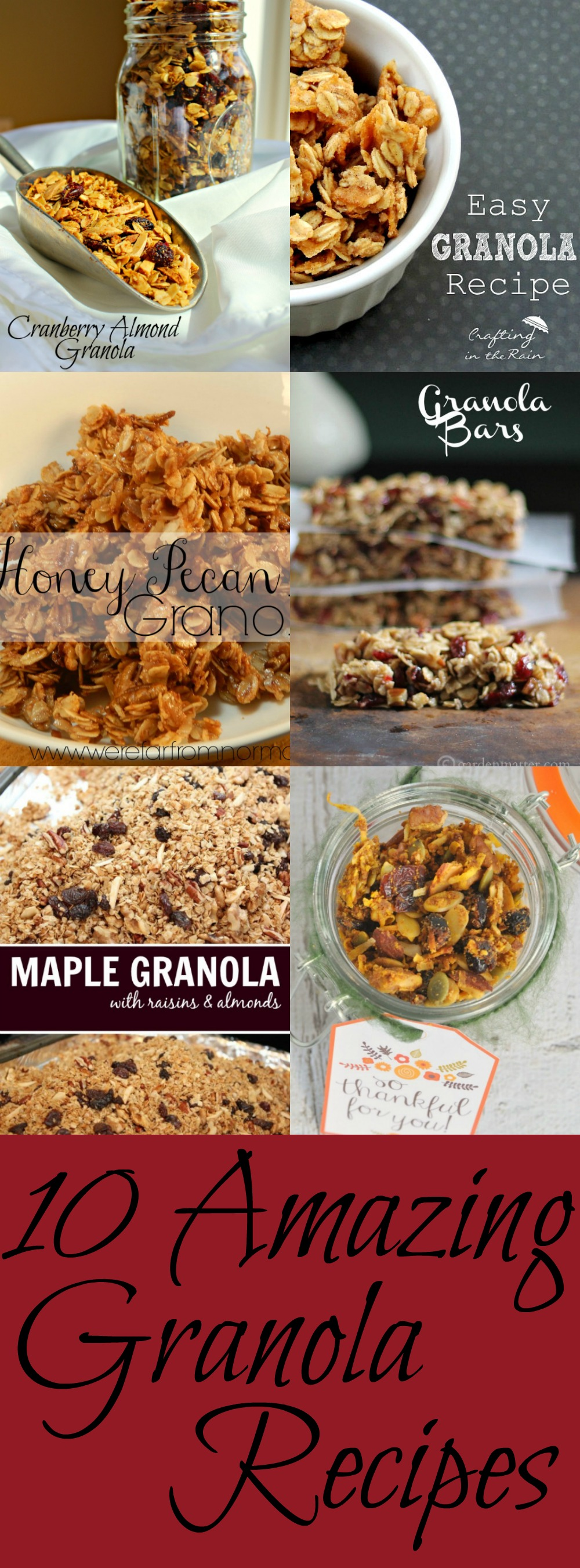 Amazing Granola Recipes Pin