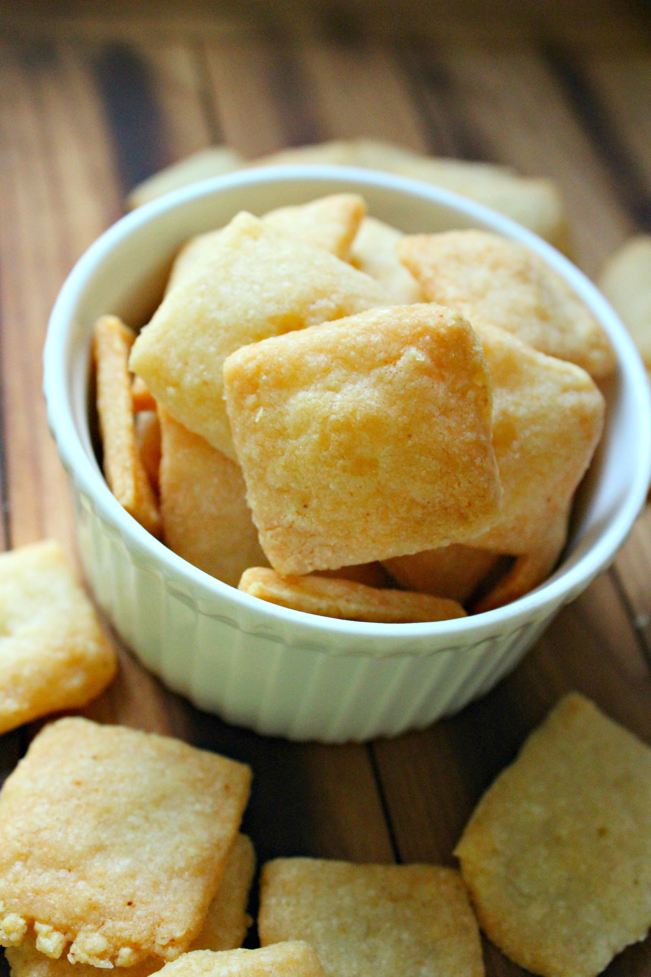 garlic Parmesan crackers 6