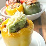 Gluten Free Burrito Bowl Stuffed Peppers